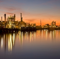 Refinery Photo at Sunset